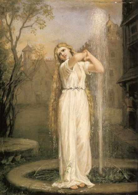 Waterhouse, John William: Undine. Fine Art Print/Poster. Sizes: A4/A3/A2/A1 (001401)